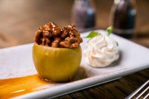 cinnamon mousse stuffed apple